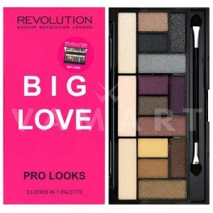 Makeup Revolution London Pro Looks Big Love Palette Палитра сенки 15 цвята