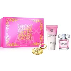 Versace Bright Crystal Eau de Toilette 90ml + Body Lotion 100ml + Ключодържател дамски комплект