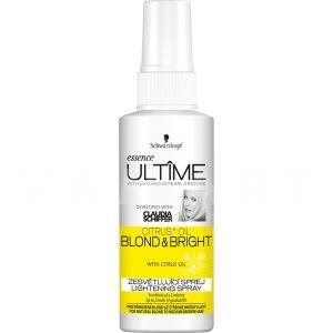 Schwarzkopf Essence Ultime Citrus+ Oil Blond & Bright Изсветляващ спрей за естествено руса и изрусена коса 100ml