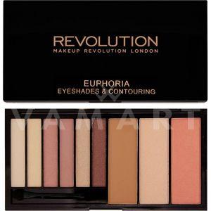 Makeup Revolution London Euphoria Palette Bare Палитра сенки и контури