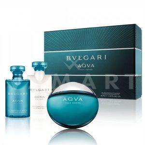 Bvlgari AQVA Pour Homme Eau de Toilette 50ml + Shower Gel 40ml + After Shave Balm 40ml мъжки комплект