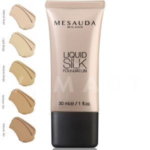 Mesauda Milano Liquid Silk Foundation Матиращ фон дьо тен 202 Light Beige