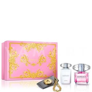 Versace Bright Crystal Eau de Toilette 90ml + Body Lotion 100ml + Аксесоар за чанта дамски комплект