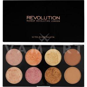 Makeup Revolution London Ultra Blush Palette Golden Sugar 2 Палитра ружове 8 цвята