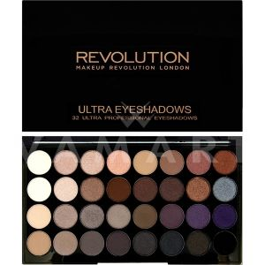 Makeup Revolution London Ultra 32 Shade Affirmation Eyeshadow Palette Палитра сенки 32 цвята