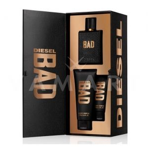 Diesel Bad Eau de Toilette 75ml + Shower Gel 100ml + Shower Gel 50ml мъжки комплект