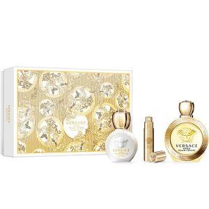 Versace Eros Pour Femme Eau de Parfum 100ml + Body Lotion 100ml + Eau de Parfum 10ml дамски комплект