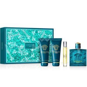 Versace Eros Eau De Toilette 100ml + Shower gel 100ml + Aftershave Balm 100ml + Eau De Toilette 10ml мъжки комплект
