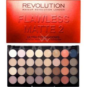 Makeup Revolution London Ultra 32 Shade Flawless Matte 2 Eyeshadow Palette Палитра сенки 32 цвята