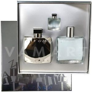 Azzaro Chrome Eau de Toilette 100ml + After Shave Balm 100ml + Eau de Toilette 7ml мъжки комплект