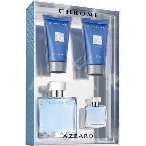Azzaro Chrome Eau de Toilette 50ml + After Shave Balm 50ml + Shower Gel 50ml + Eau de Toilette 7ml мъжки комплект