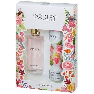 Yardley London English Rose Eau de Toilette 50ml + Deodorant Spray 75ml дамски комплект