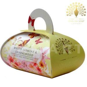 The English Soap Company Luxury Gift White Jasmine & Sandalwood Луксозен сапун 260g