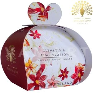 The English Soap Company Luxury Gift Clematis & Lime Blossom Луксозен сапун 3 x 20g