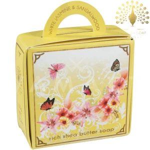 The English Soap Company Luxury Gift White Jasmine & Sandalwood Луксозен сапун 100g