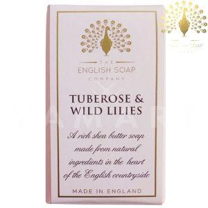 The English Soap Company Pure Tuberose & Wild Lilies Луксозен растителен сапун 190g