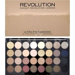 Makeup Revolution London Ultra 32 Shade Flawless Eyeshadow Palette Палитра сенки 32 цвята