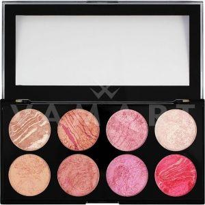Makeup Revolution London Blush Palette Queen Палитра ружове 8 цвята