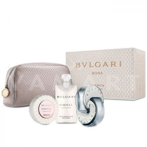 Bvlgari Omnia Crystalline Eau de Toilette 65ml + Body Lotion 75ml + Soap 75gr + Несесер дамски комплект