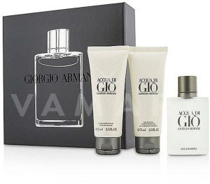 Armani Acqua di Gio homme Eau De Toilette 50ml + Shower Gel  75ml + After Shave Balm 75ml мъжки комплект