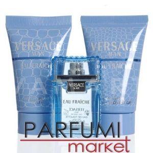 Versace Man Eau Fraiche Eau de Toilette 5ml + Shower Gel 25ml + After Shave Balm 25ml мъжки комплект