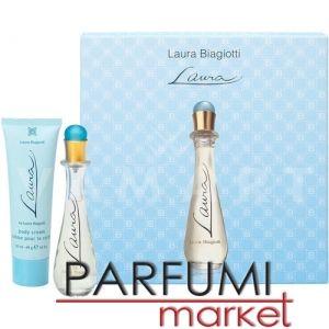 Laura Biagiotti Laura Eau de Toilette 25ml + Body Cream 50ml дамски комплект