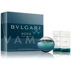 Bvlgari AQVA Pour Homme Eau de Toilette 50ml + After Shave Emulsion 75ml + Shower gel 75ml мъжки комплект
